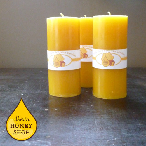Nearly Perfect Beeswax Pillar Candles