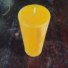 Small Peaked Beeswax Pillar Candle