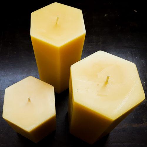 Hexagon Pillar Candles